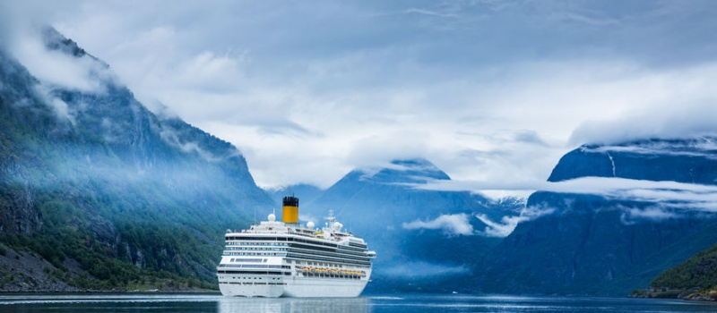 47560728 - cruise ship, cruise liners on hardanger fjorden, norway