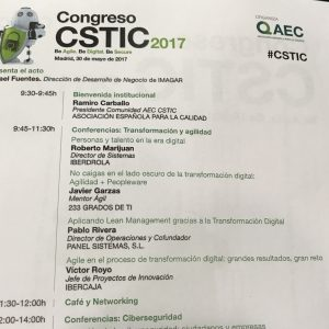 Transformación digital y agilidad en el Congreso CSTIC 2017.