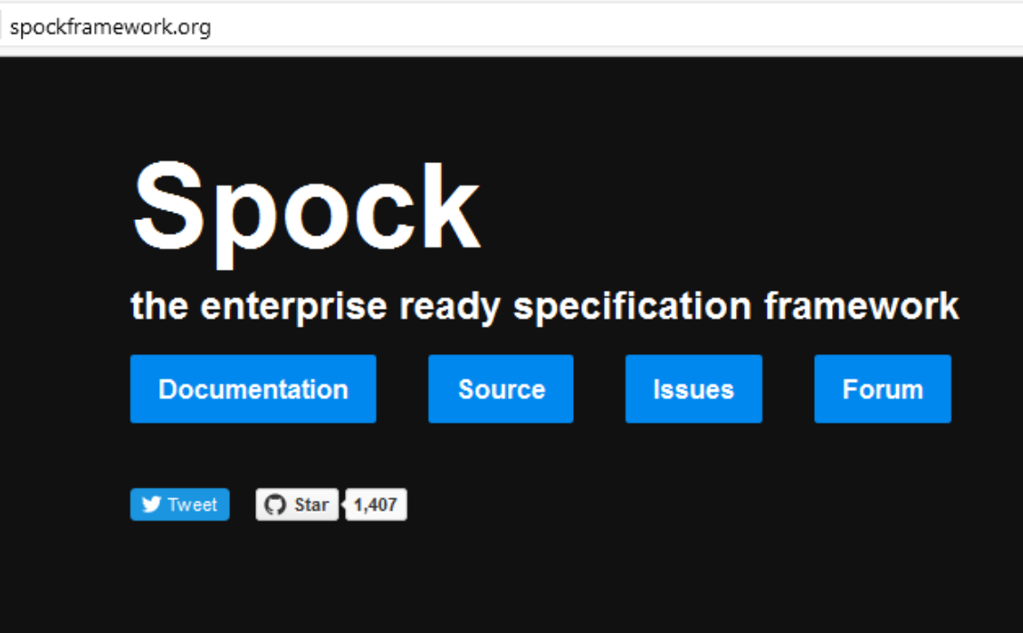 Spock framework website